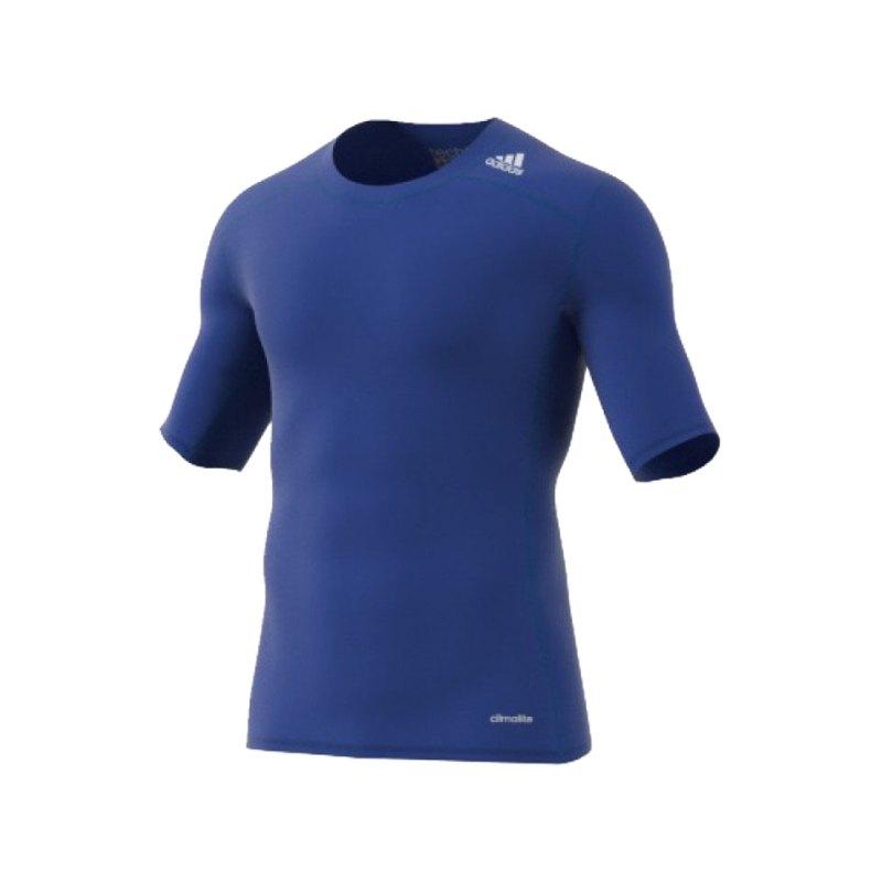 adidas Kurzarmshirt Blau Tech Fit Base Tee - blau