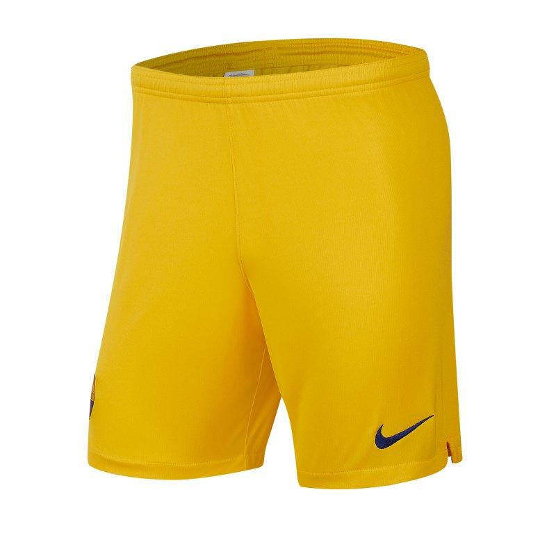 Nike FC Barcelona Short Away 2019/2020 Gelb F726 - gelb