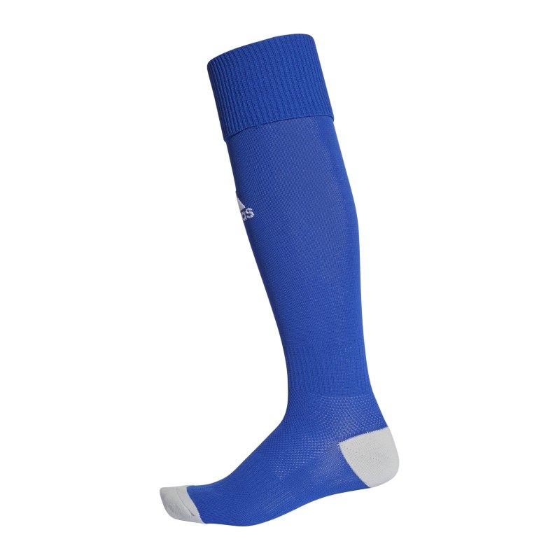 adidas Stutzenstrumpf Milano 16 Blau Weiss - blau