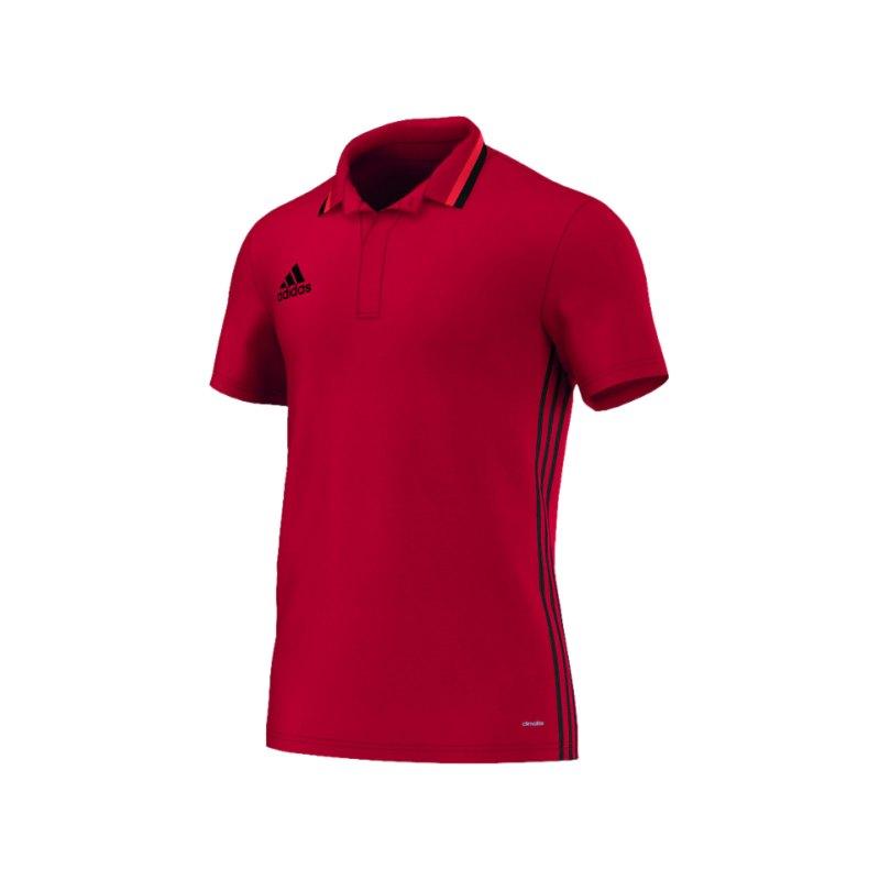 adidas CL Poloshirt Condivo 16 Rot Schwarz - rot