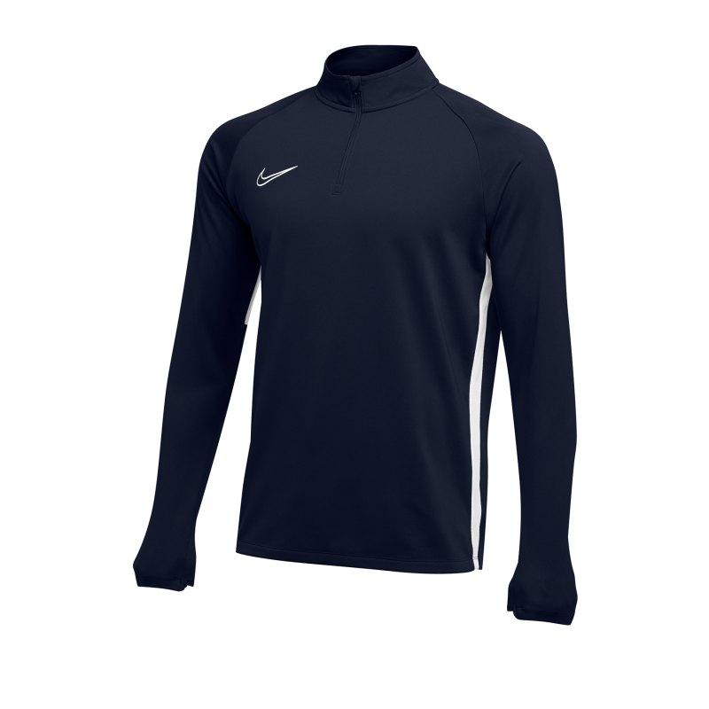 Nike Academy 19 1/4 Zip Drill Top Blau F451 - blau