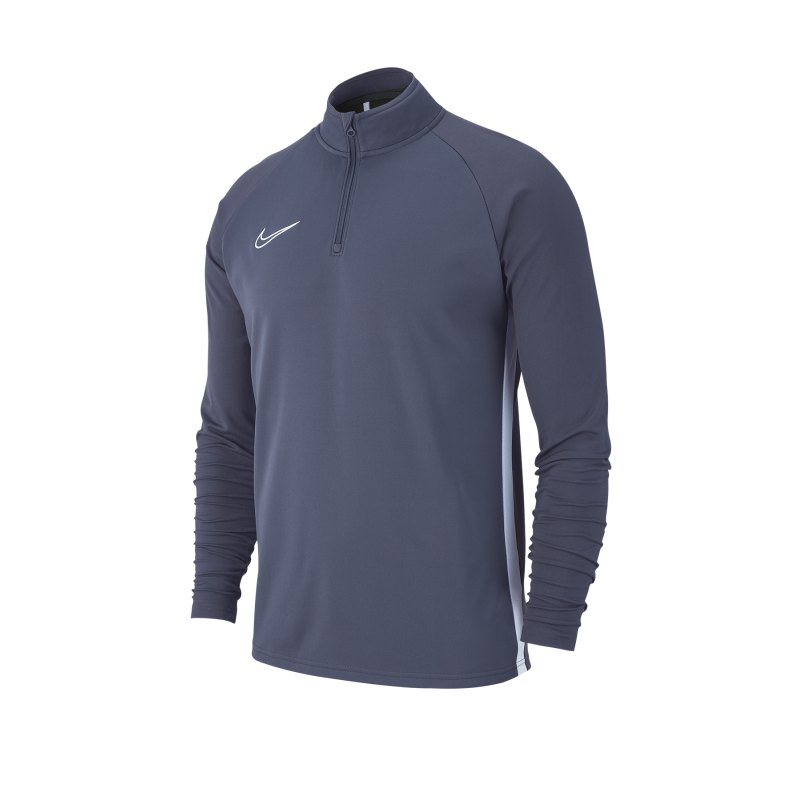 Nike Academy 19 1/4 Zip Drill Top Grau F060 - grau