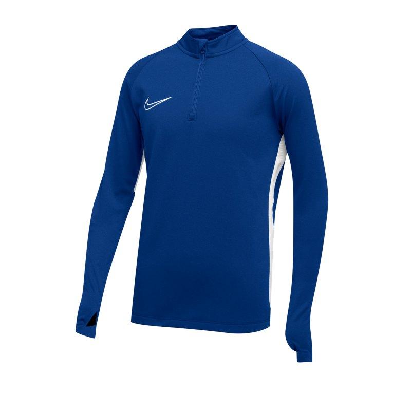 Nike Academy 19 1/4 Zip Drill Top Kids Blau F463 - Blau