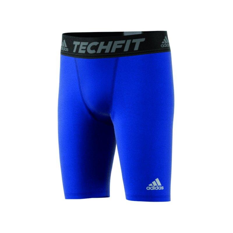 adidas Short Kinder Blau Tech Fit BaseSchwarz - blau