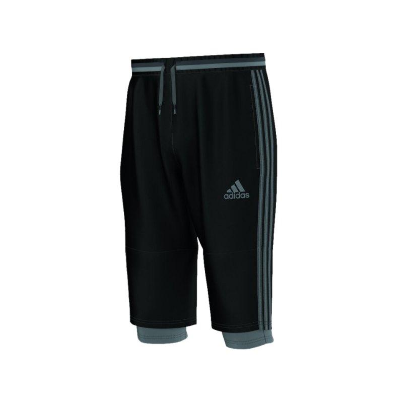 adidas 3/4 Pant Condivo 16 Schwarz Grau - schwarz