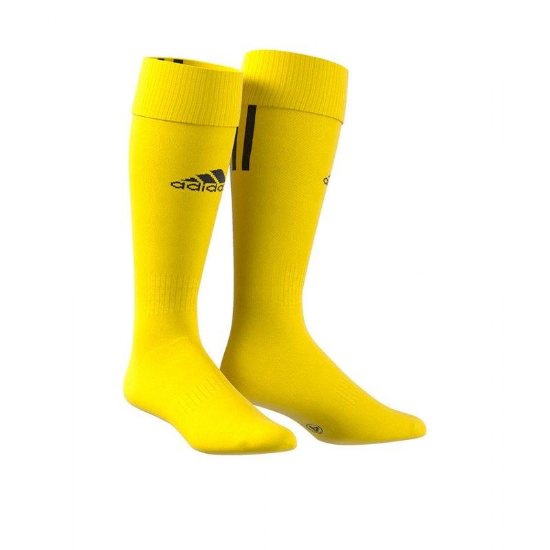 adidas Stutzenstrumpf Santos 3-Stripes Gelb - gelb