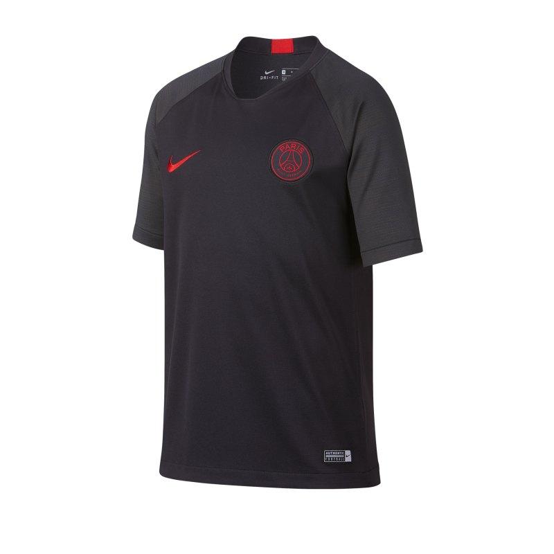 Nike Paris St. Germain Trainingsshirt Kids F081 - Grau