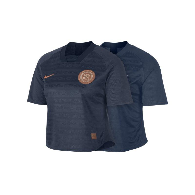 Nike F.C. Crop Top Damen Blau F427 - Blau