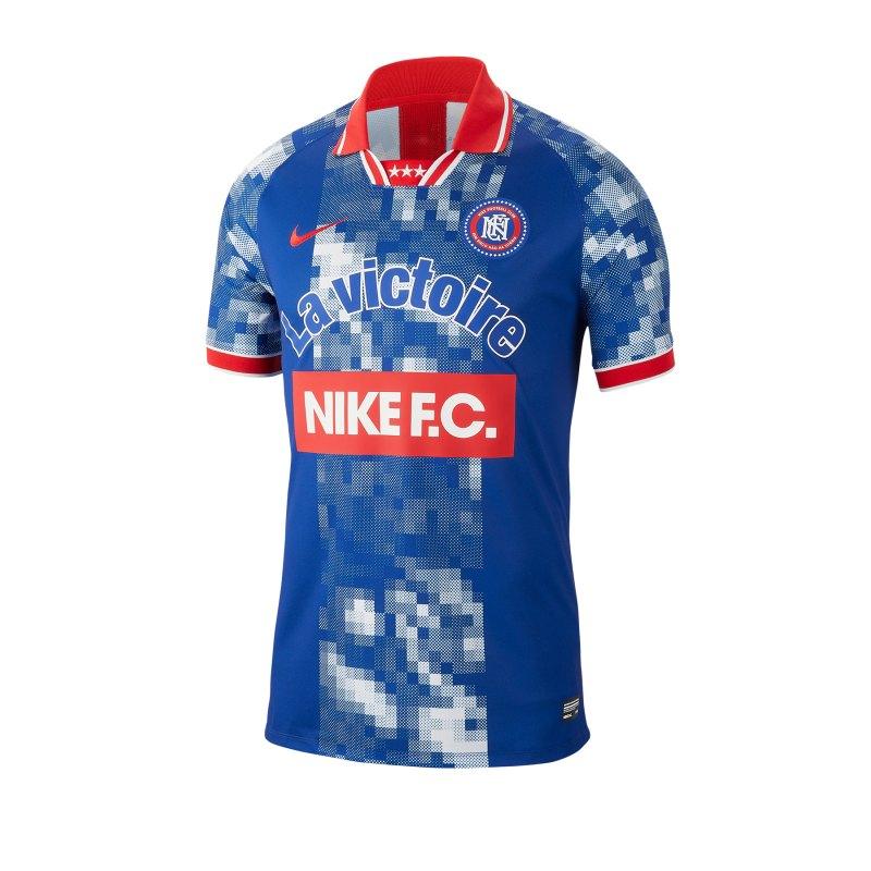 Nike F.C. Frankreich Jersey T-Shirt Blau F438 - blau