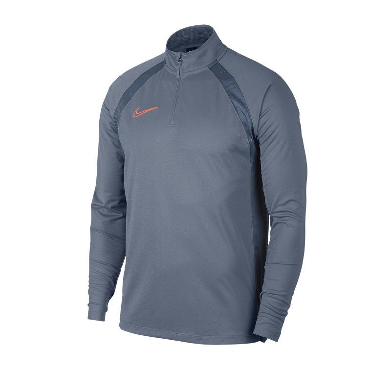Nike Dri-FIT Academy Drill Top Grau F490 - Blau