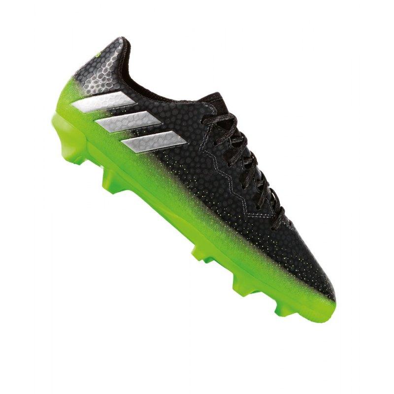 adidas FG Messi 16.3 J Kinder Grau Grün - grau