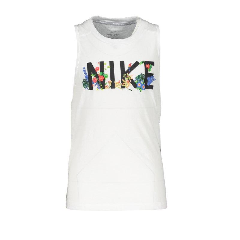Nike Miler Tanktop Running Damen F100 - weiss
