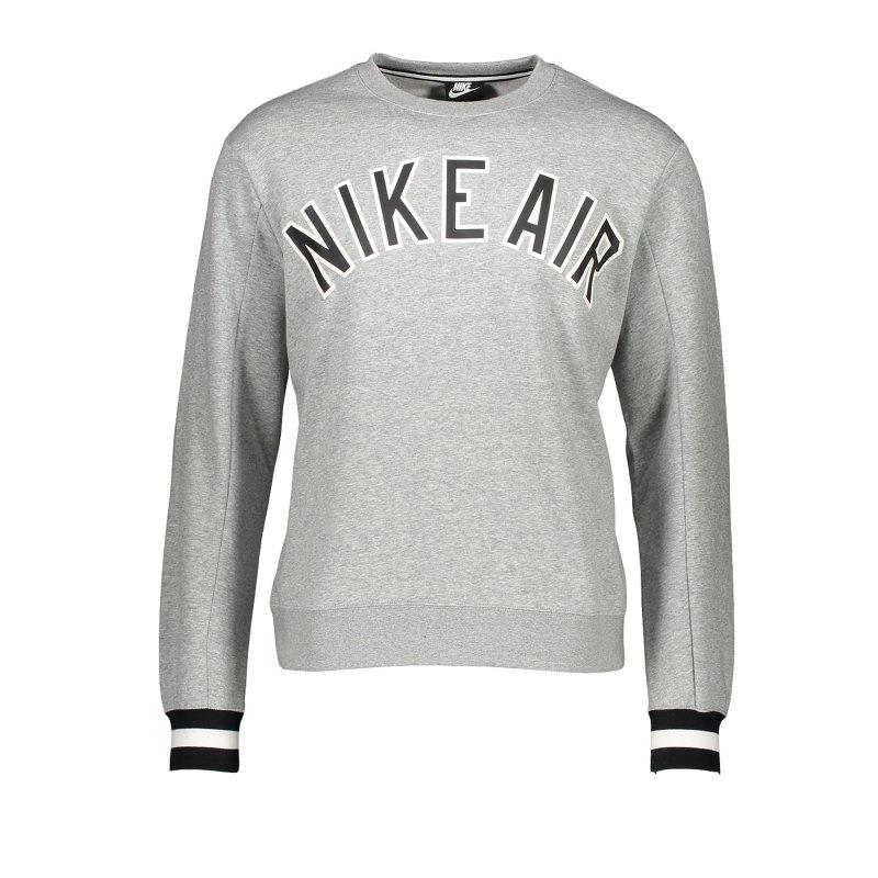 Nike Air Crew Fleece Sweatshirt Grau F063 - Grau