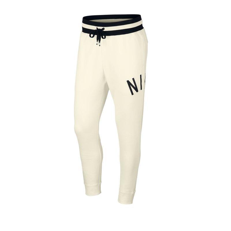Nike Air Retro Pant Jogginghose Weiss Schwarz F133 - Weiss