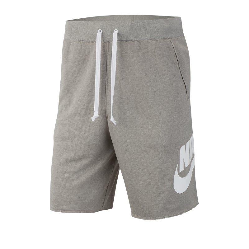 Nike Sportswear Alumni Short Grau Weiss F064 - Grau