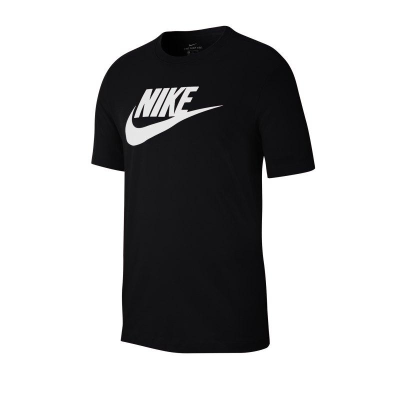 Nike Icon Futura T-Shirt Schwarz Weiss F010 - schwarz