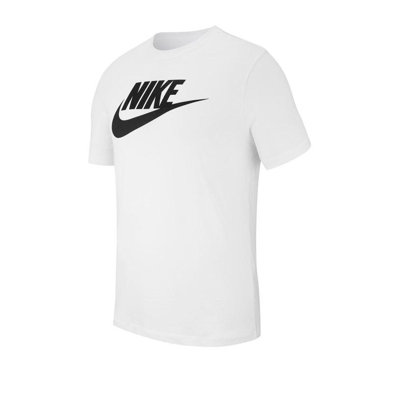 Nike Icon Futura T-Shirt Weiss Schwarz F101 - weiss