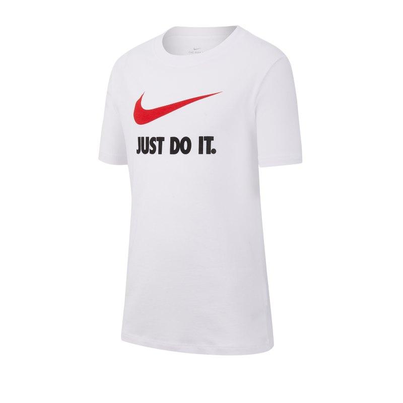 Nike Just Do It Swoosh Tee T-Shirt Kids Weiss F100 - weiss