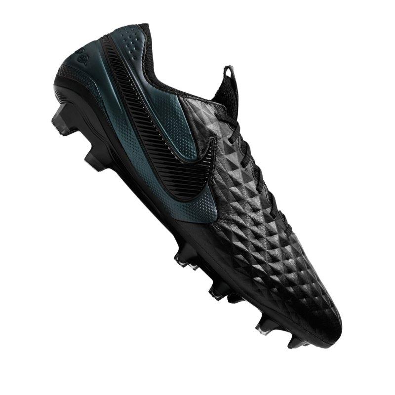 Nike Tiempo Legend VIII Elite FG Schwarz F010 - schwarz