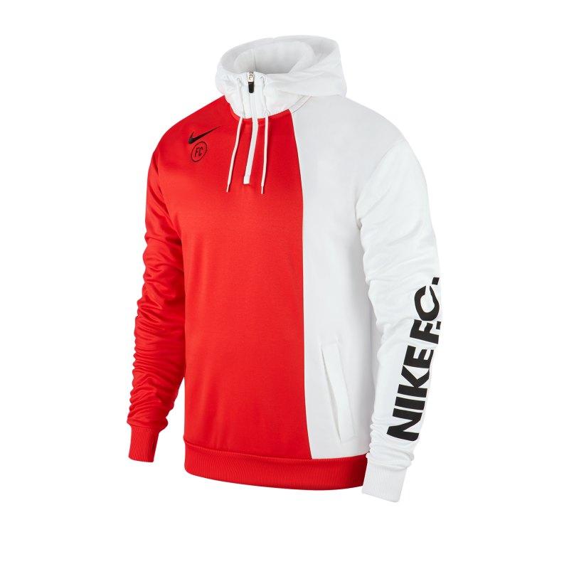 Nike F.C. Hoody Kapuzenpullover Weiss F101 - weiss