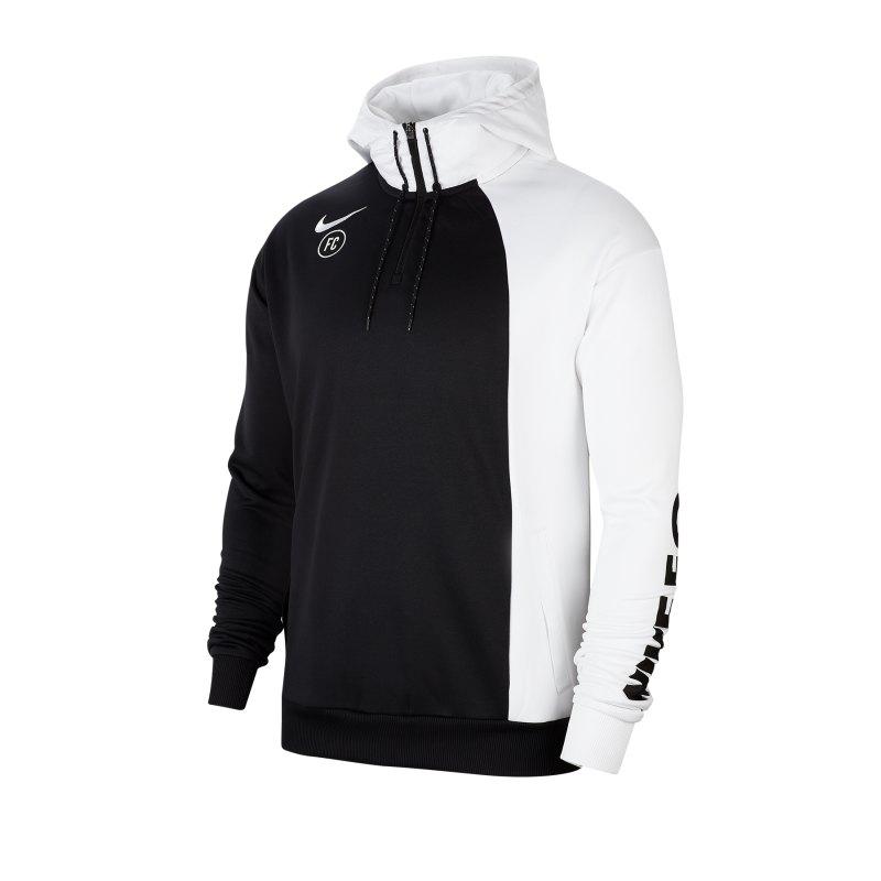 Nike F.C. Soccer Kapuzensweatshirt Weiss F100 - weiss