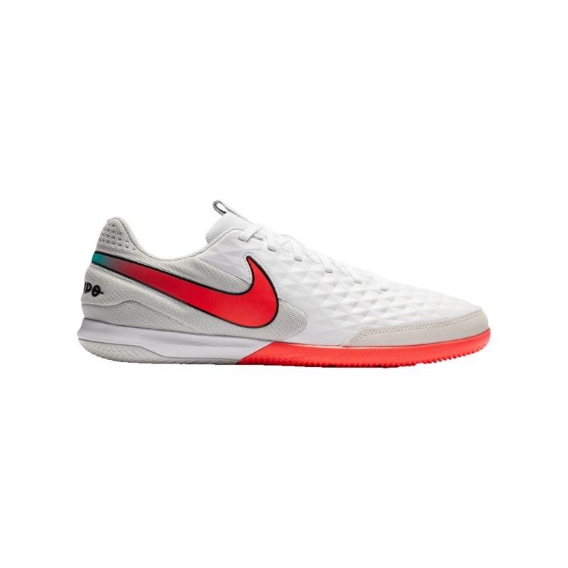 Nike Tiempo Legend VIII Flash Crimson Academy IC Weiss F163 - weiss