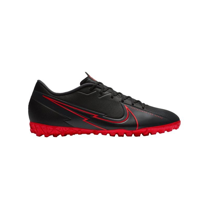 Nike Mercurial Vapor XIII Black X Chile Red Academy TF Schwarz F060 - schwarz