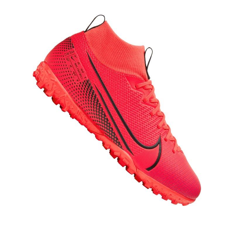 Nike Jr Mercurial Superfly VII Academy TF Kids Rot F606 - rot
