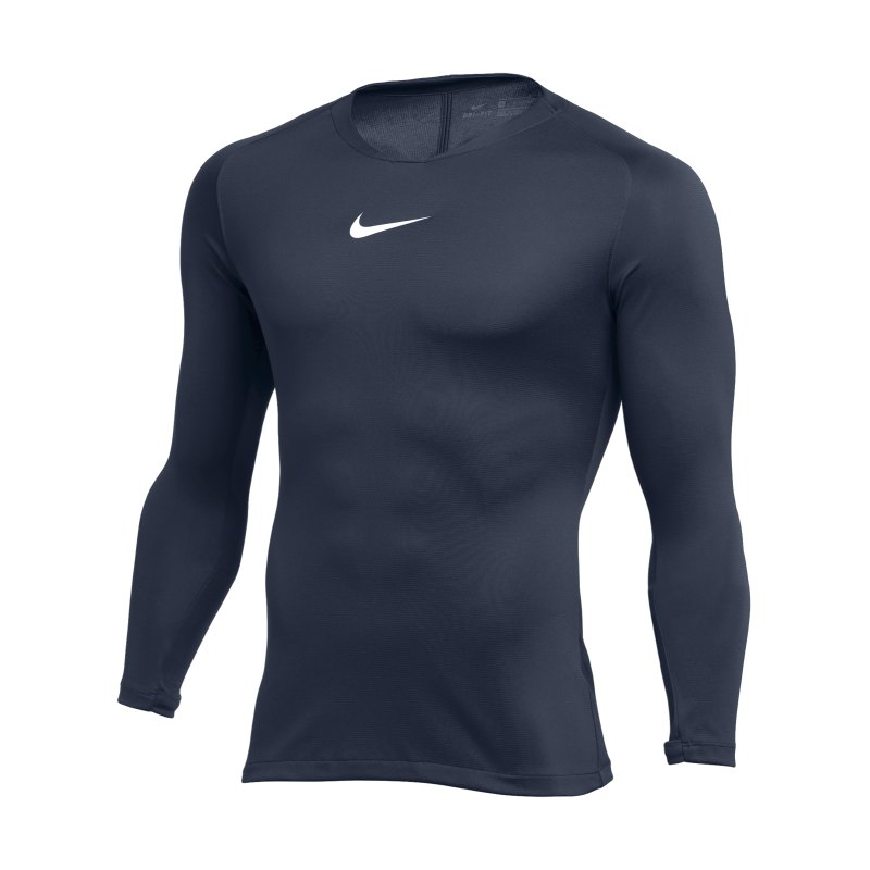 Nike Park First Layer Top langarm Dunkelblau F410 - blau