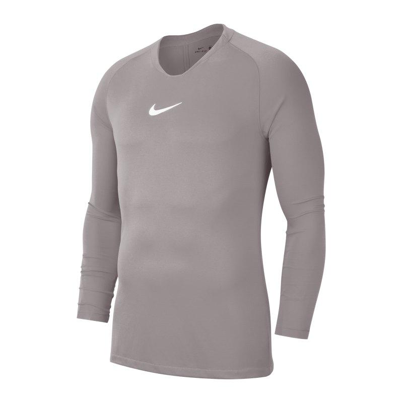 Nike Park First Layer Top langarm Grau F057 - grau
