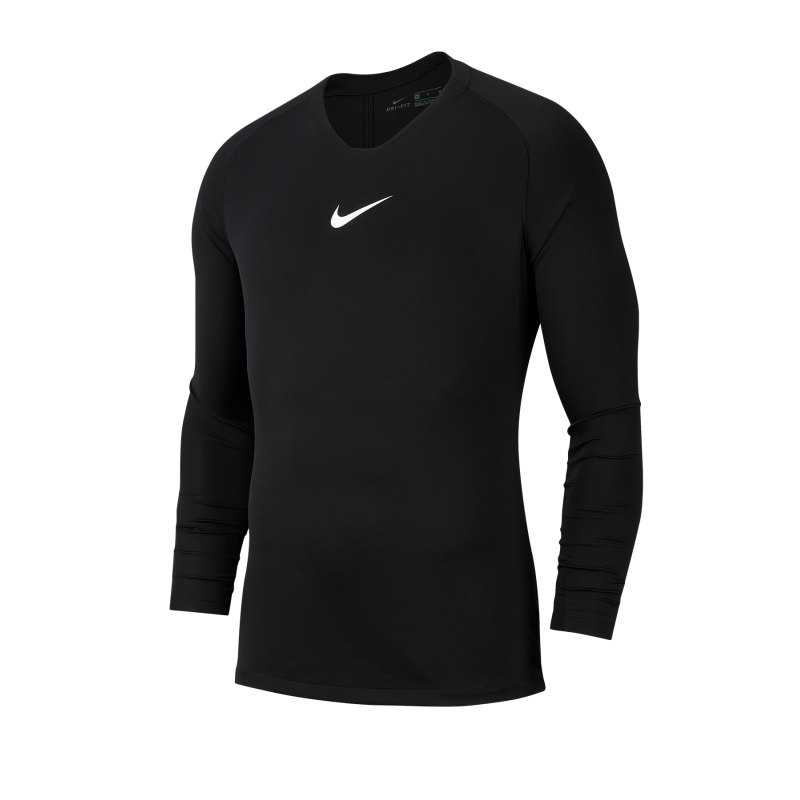 Nike Park First Layer Top langarm Schwarz F010 - schwarz