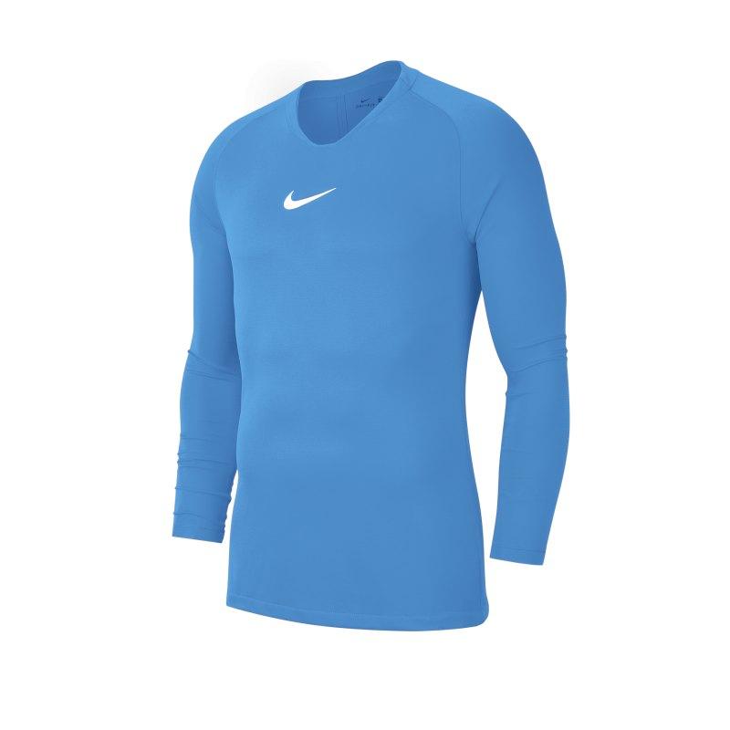 Nike Park First Layer Top langarm Kids Blau F412 - blau