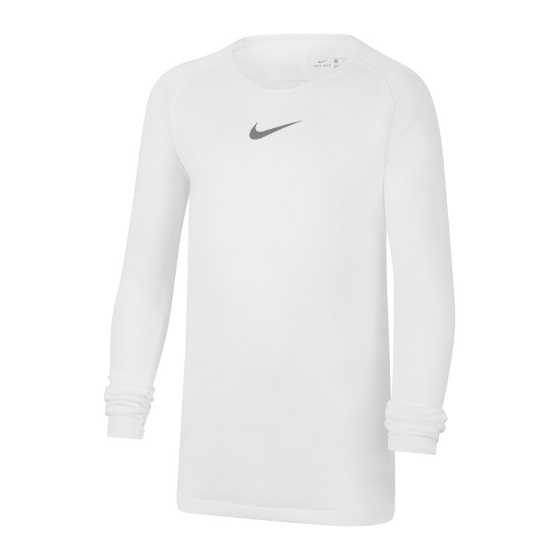 Nike Park First Layer Top langarm Kids F100 - weiss