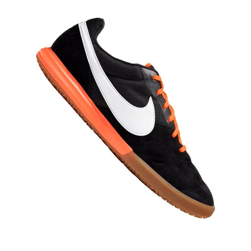 Nike Premier II Sala IC Schwarz Orange F018 - schwarz