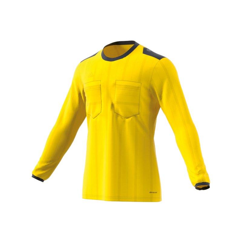 adidas Trikot langarm UCL Referee Gelb - gelb