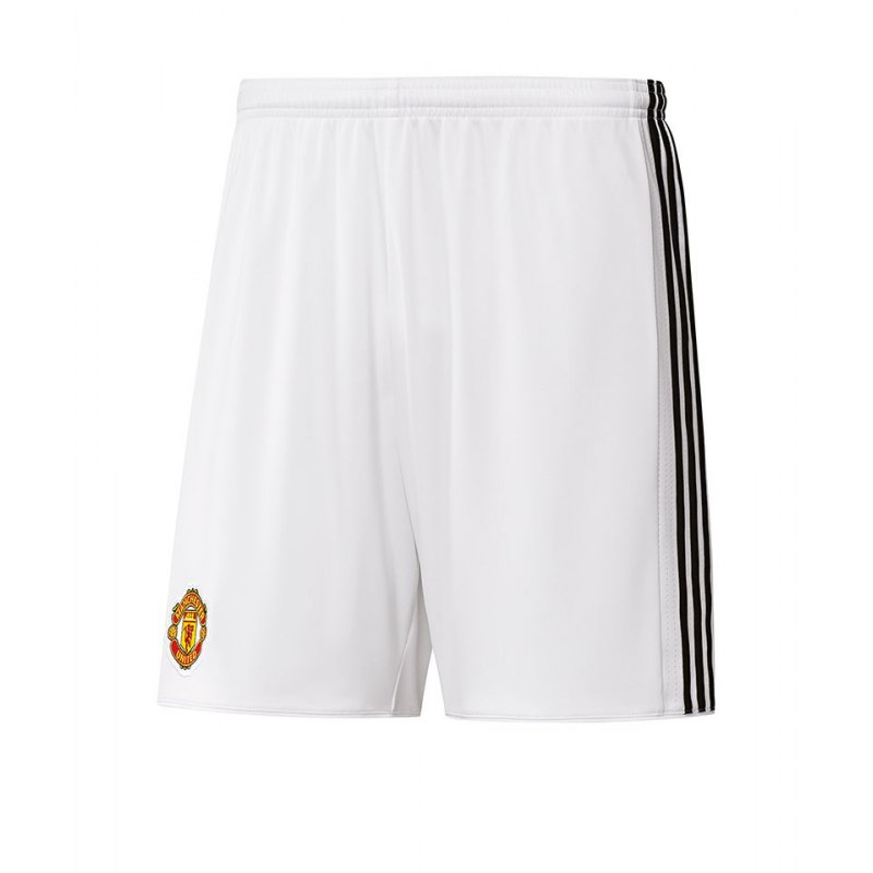 adidas Short Home Manchester United Kinder 17/18 - weiss
