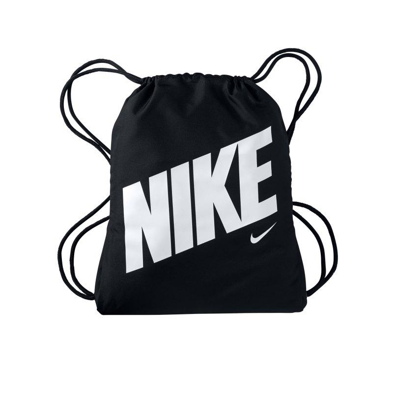 Nike Graphic Gymsack Schwarz Weiss F015 - schwarz