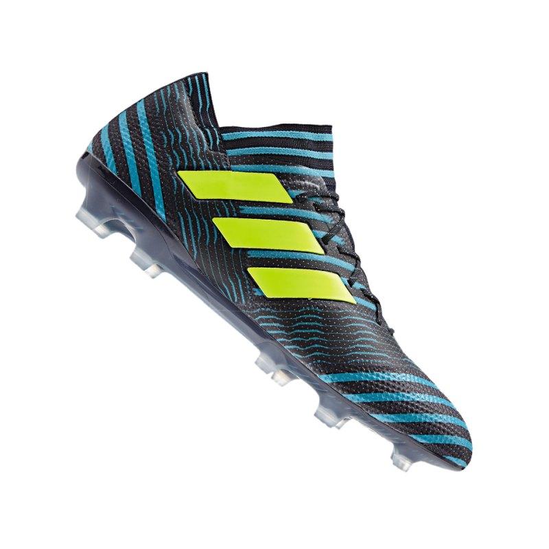adidas FG NEMEZIZ 17.1 FG Blau Gelb - blau