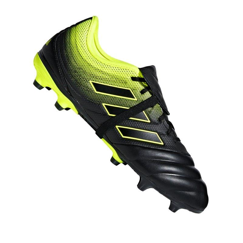 adidas COPA Gloro 19.2 FG Schwarz Gelb - schwarz