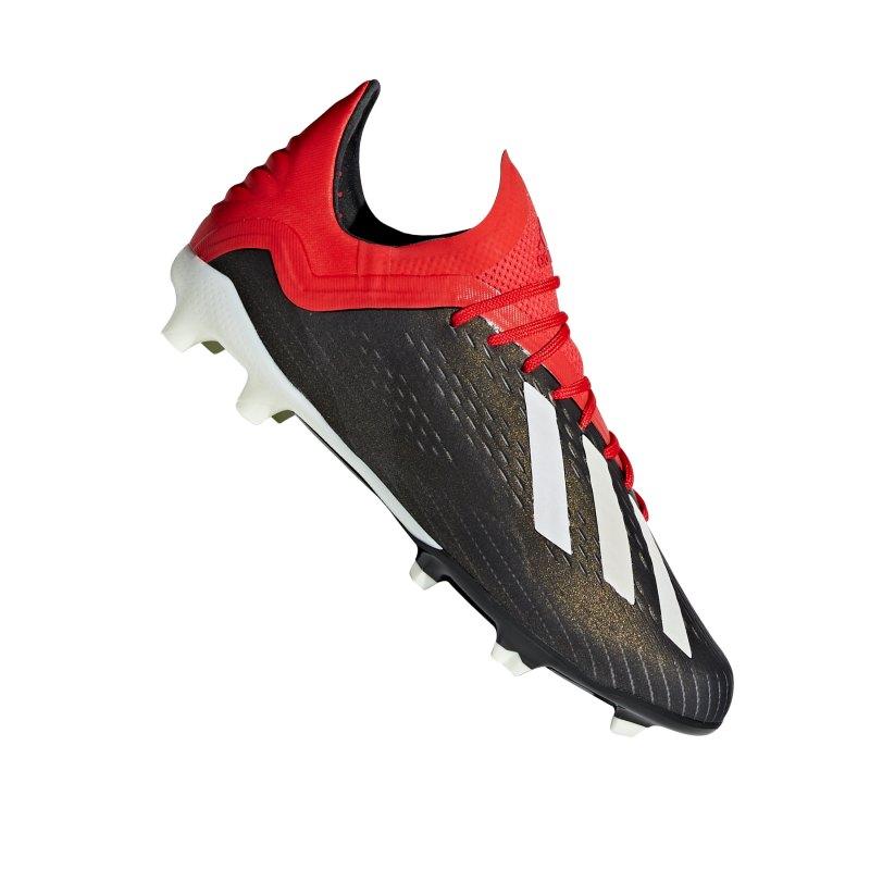 adidas X 18.1 FG J Kids Schwarz Rot - schwarz