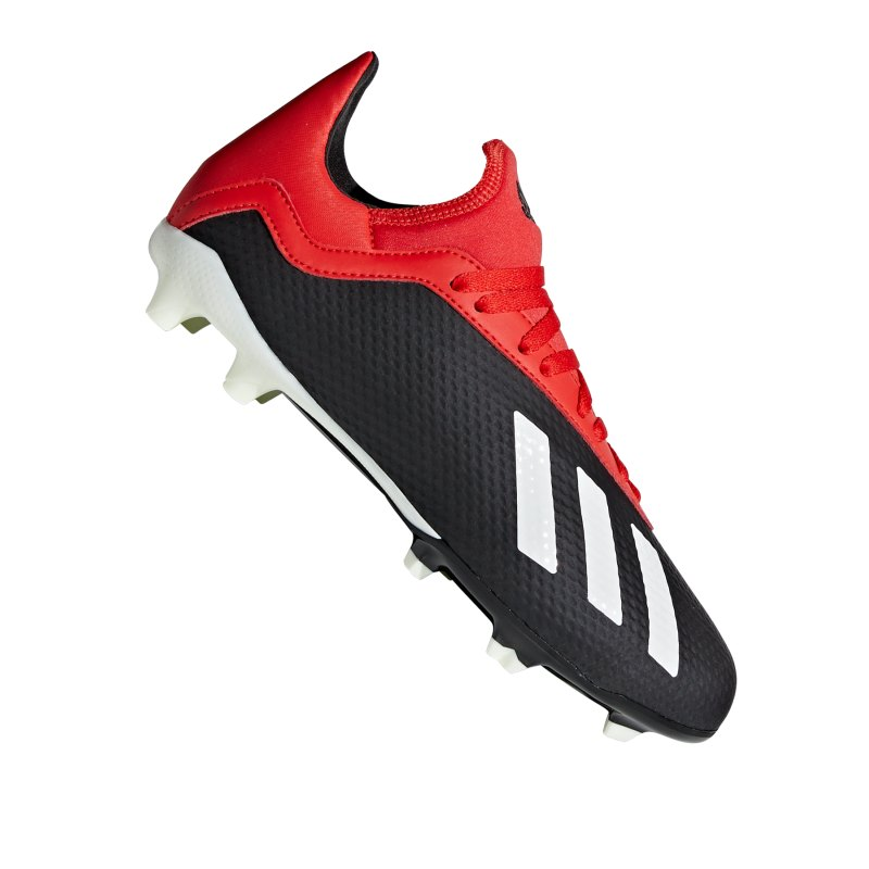 adidas X 18.3 FG J Kids Schwarz Rot - schwarz