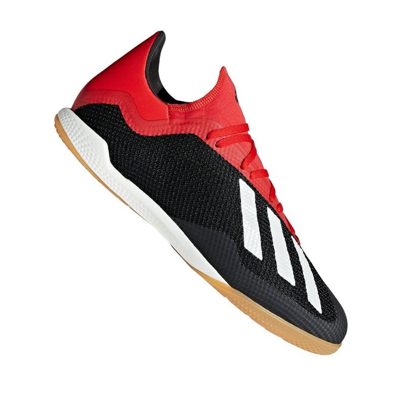 adidas X 18.3 IN Halle Schwarz Rot - schwarz
