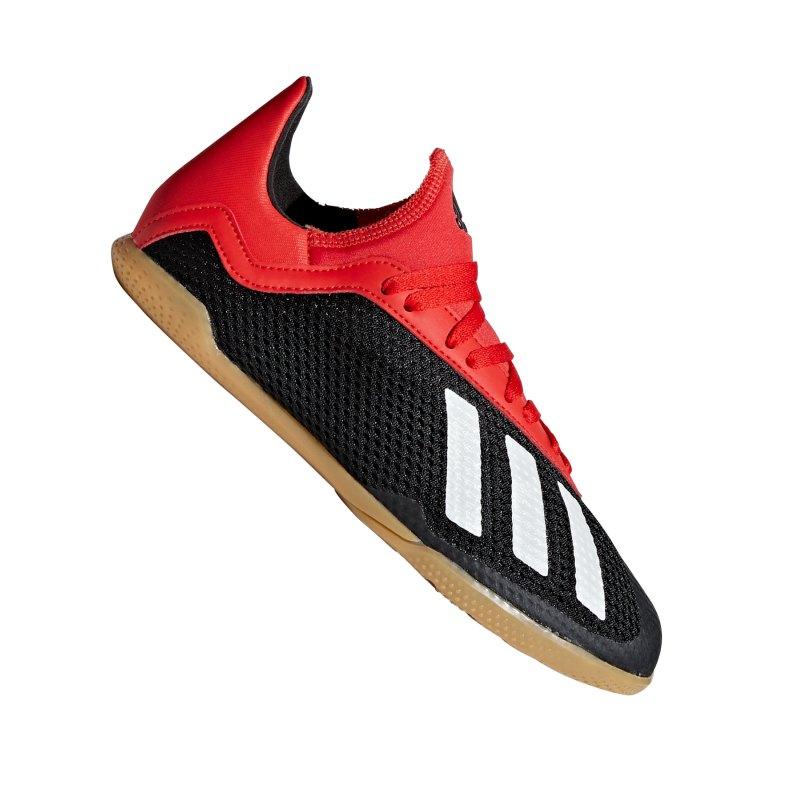 adidas X 18.3 IN Halle J Kids Schwarz Rot - schwarz