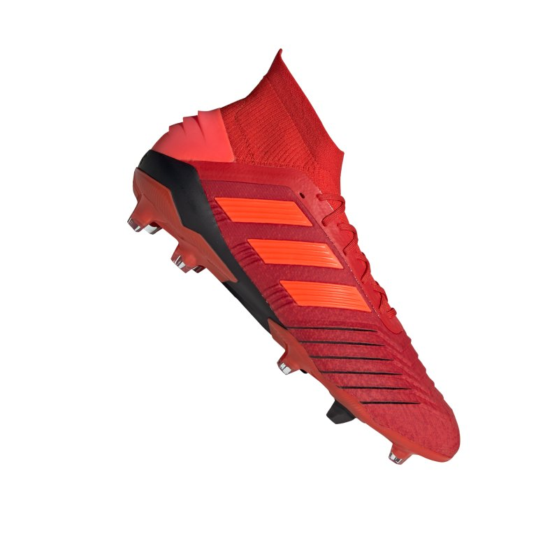 adidas Predator 19.1 FG Rot Schwarz - rot