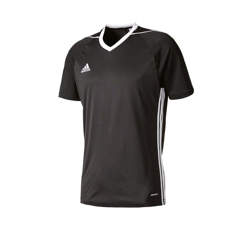 adidas Trikot Tiro 17 kurzarm schwarz weiss - schwarz