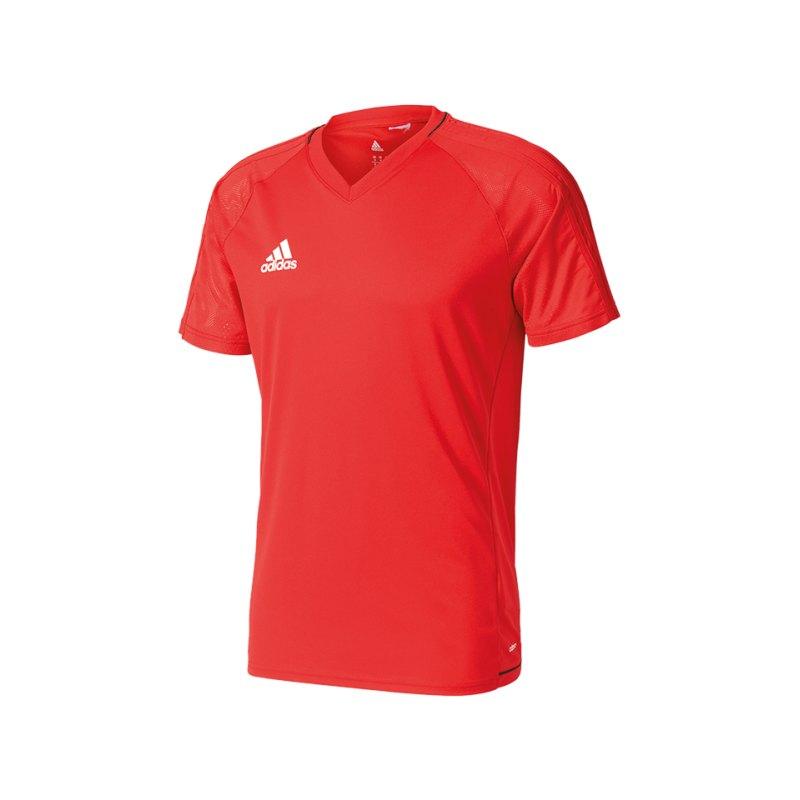 adidas Trainingsshirt Tiro 17 Rot Schwarz - rot