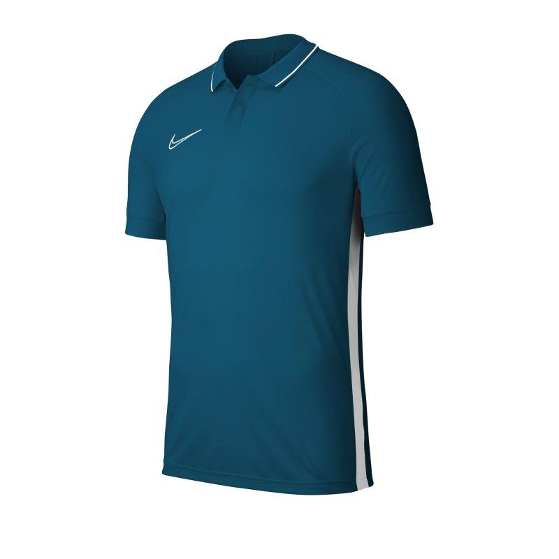 Nike Academy 19 Poloshirt Blau Weiss F404 - blau