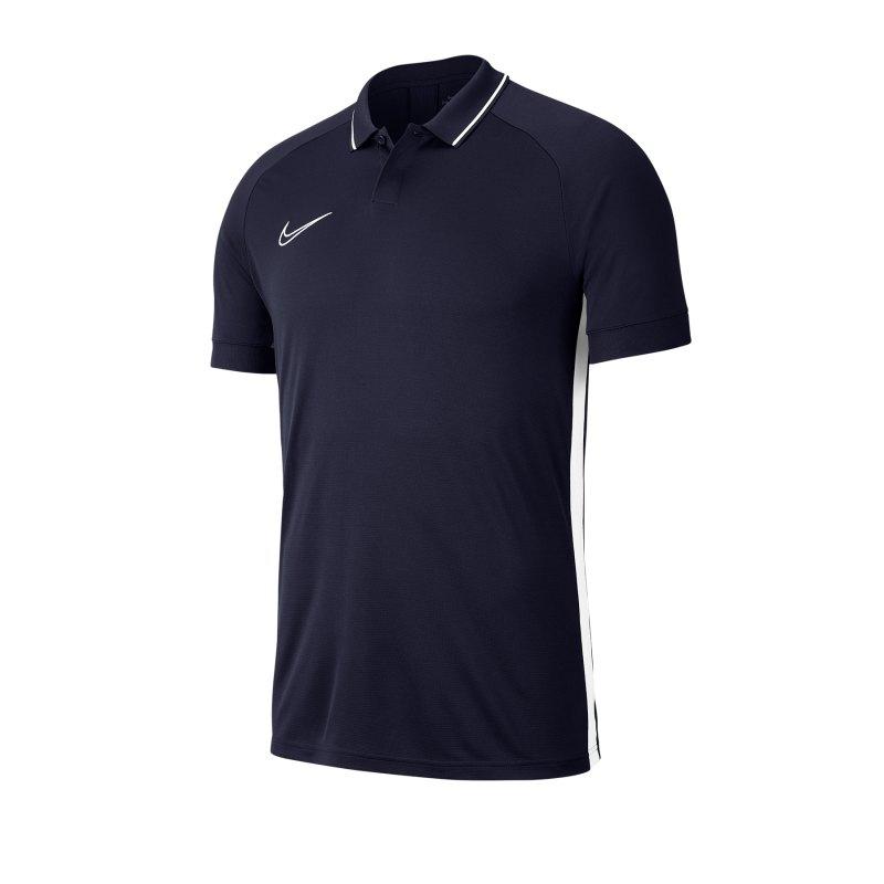 Nike Academy 19 Poloshirt Blau Weiss F451 - blau