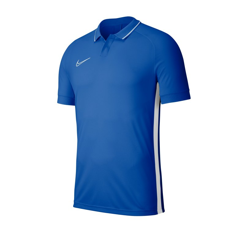 Nike Academy 19 Poloshirt Blau Weiss F463 - blau