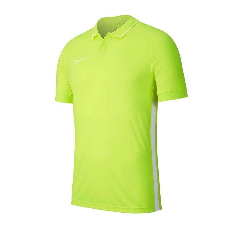 Nike Academy 19 Poloshirt Gelb Weiss F702 - gelb